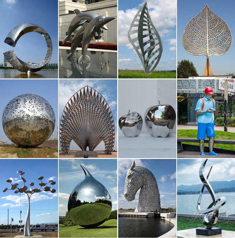 Mirror stainless steel sculpture