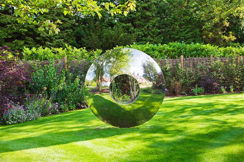 outdoor modern metal sculpture for garden park yard decor