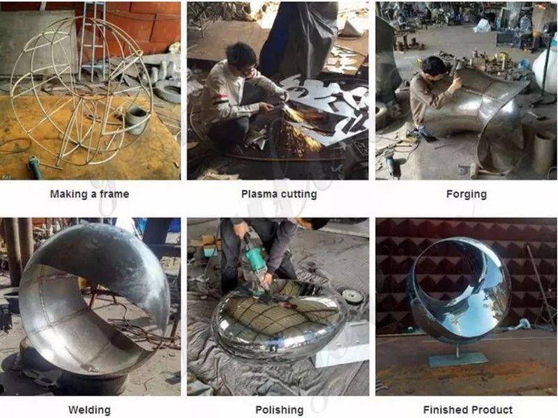 process-of-Metal Fish Sculpture