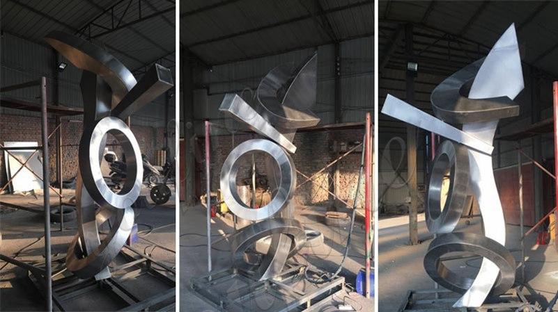Outdoor Modern Abstract Stainless Steel Sculptures design