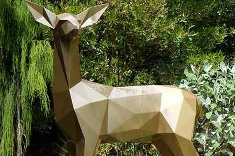Garden Decor Abstract Stainless Steel Deer Sculpture for Sale CSS-101