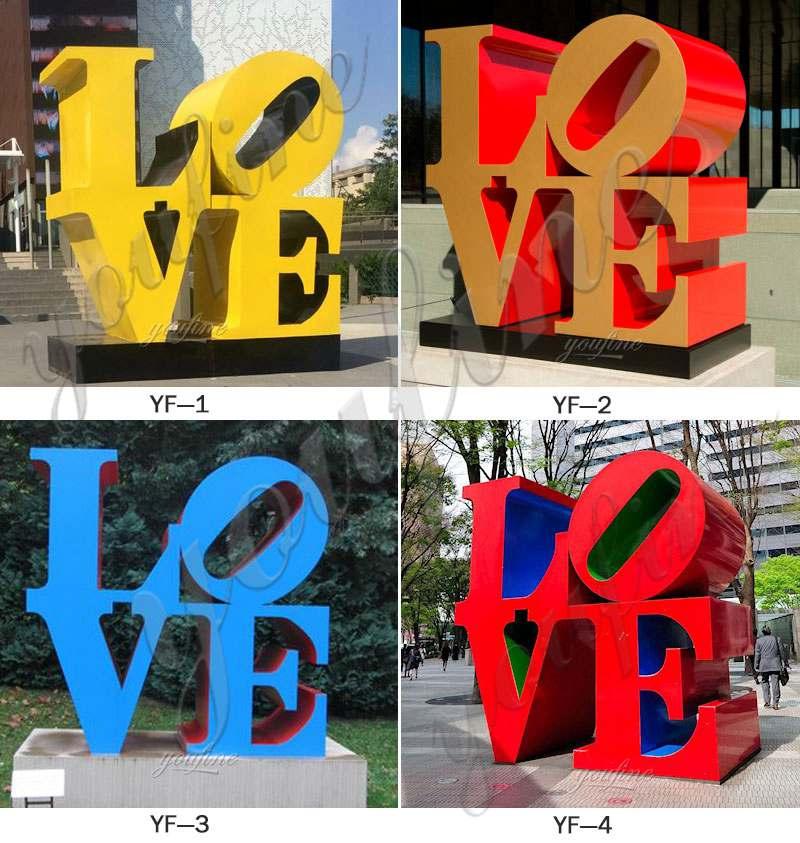 metal art love letter for sale