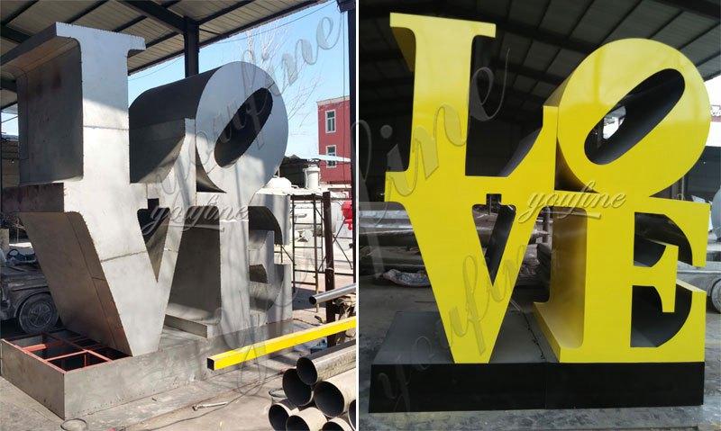 modern outdoor metal sculptures letter Love designs for our dutch friend