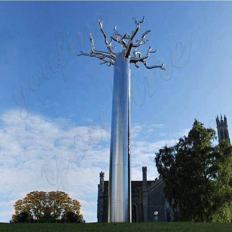 Large Outdoor Stainless Steel Tree Landmark - (5)