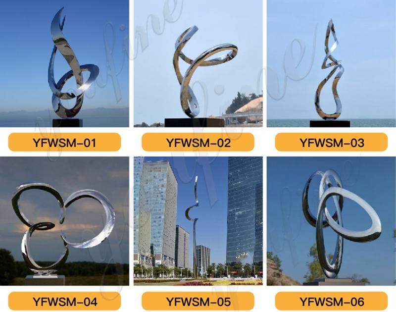 Outdoor stainless steel Mobius Loop sculpture for Sale CSS-221