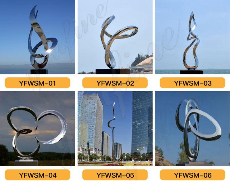 Large Metal stainless steel Mobius Loop sculpture for Sale CSS-220 - 副本
