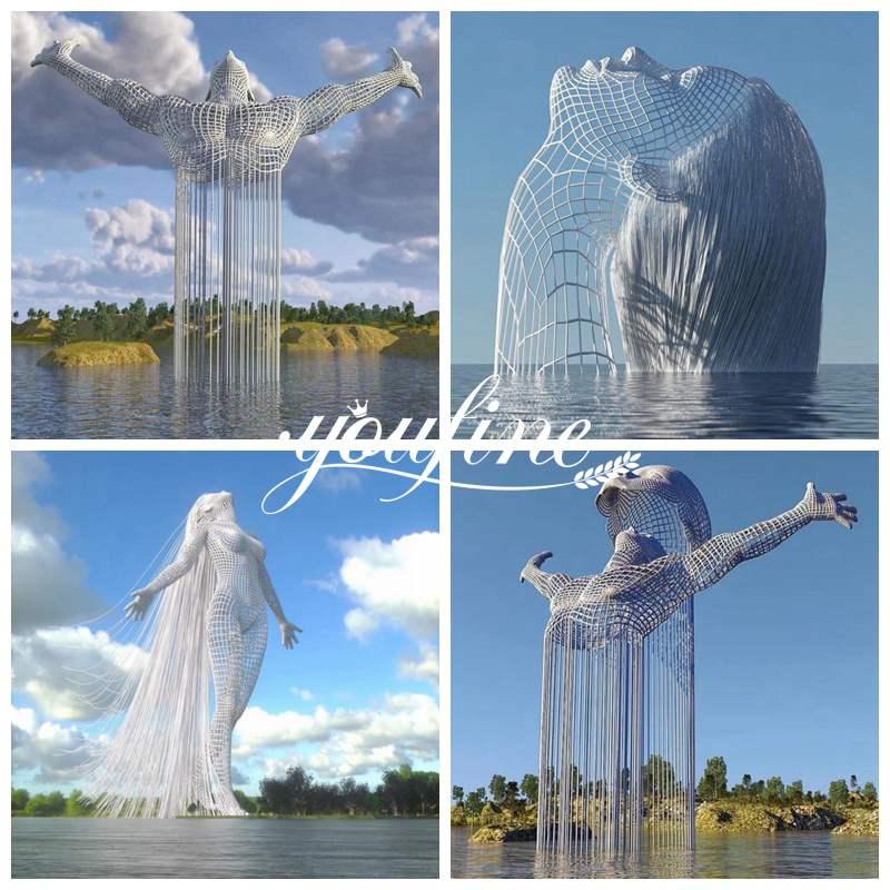 Giant Figure Sculpture Square Decoration for Sale CSS-326